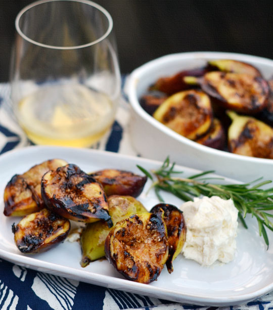 Grilled Figs with Honeyed Mascarpone