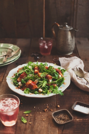 Wednesday's Specials: Peach and Prosciutto Salad with Apple Cider Vinegar Syrup
