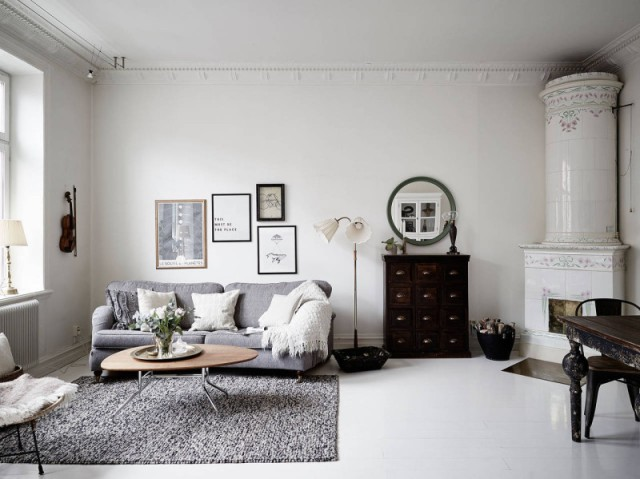 Interiors white and grey scandinavian interior project for Decoration fenetre ikea